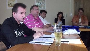 Frank Bommert bei der Kreisvorstandssitzung in Oranienburg